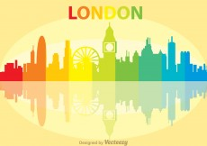 Free vector Colorful London City Scape Vector #10306