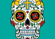 Free vector Colorful mexican skull #10131