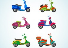 Free vector Colorful motorbikes #5760