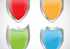 Free vector Colorful shields #7567
