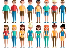 Free vector Colorful social group #9982