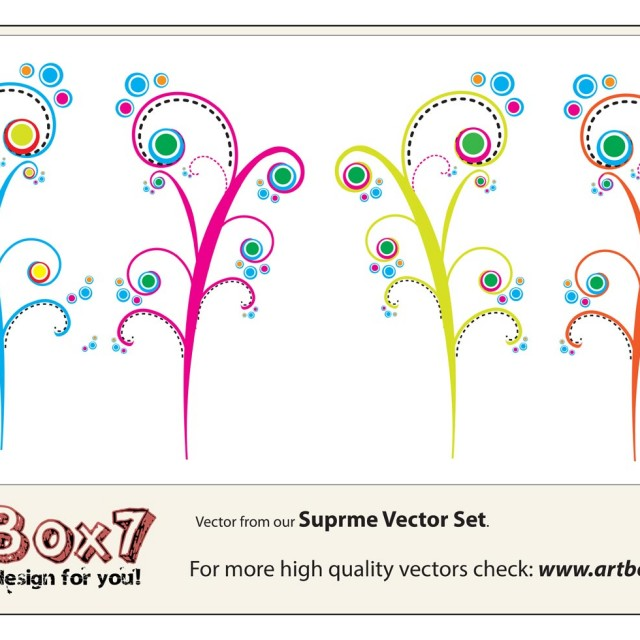 Free vector Colorful Swirls Vectors #9795
