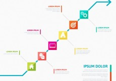 Free vector Colorful timeline infographic #5748