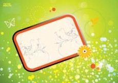 Free vector Cool Floral Frame Graphics #7366