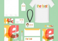 Free vector Corporate identity in lettering style #12147