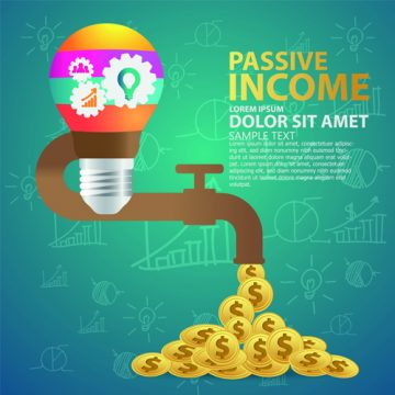 Free vector Creative passive income money background vector 04 #4961