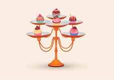 Free vector Cupcake Stand Vector #5589