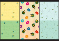 Free vector Cute Bee Patterns #11181
