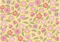 Free vector Cute floral hand drawn pattern #6452