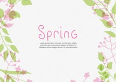 Free vector Cute spring plants background #7539