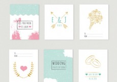 Free vector Cute wedding invitations collection #7969