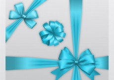 Free vector Decorative bows in blue colors #6171