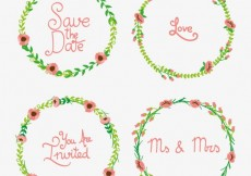 Free vector Decorative wreaths for wedding #12115