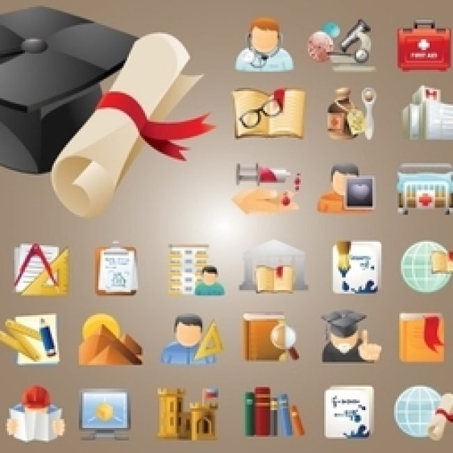 Free vector Education and Science Icon Pack #5819