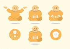 Free vector Fat Budda Vector Pack #10216