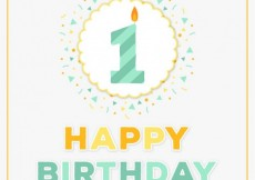Free vector First birthday card #5512