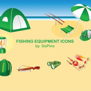 Free vector Fishing Equipment Icons #8874