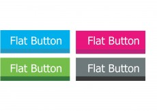 Free vector Flat Button Vectors #8176