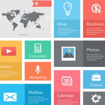 Free vector Flat infographic website user interface concept #4600