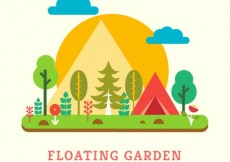 Free vector Floating garden #5773
