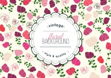 Free vector Floral background in vintage style #4186