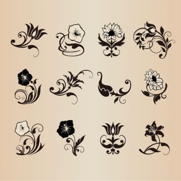 Free vector Floral Flower Vector Design Elements #5378