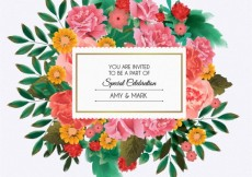 Free vector Floral invitation for wedding #11122