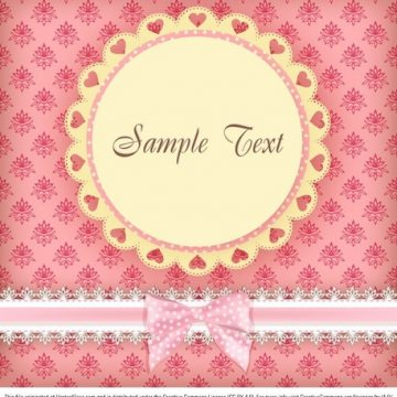 Free vector Floral Pink Card #5320