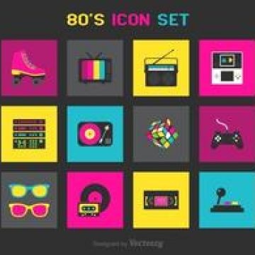 Free vector Free 80s Vector Icons #4505