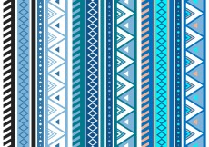 Free vector Free Blue Aztec Geometric Seamless Vector Pattern #7138