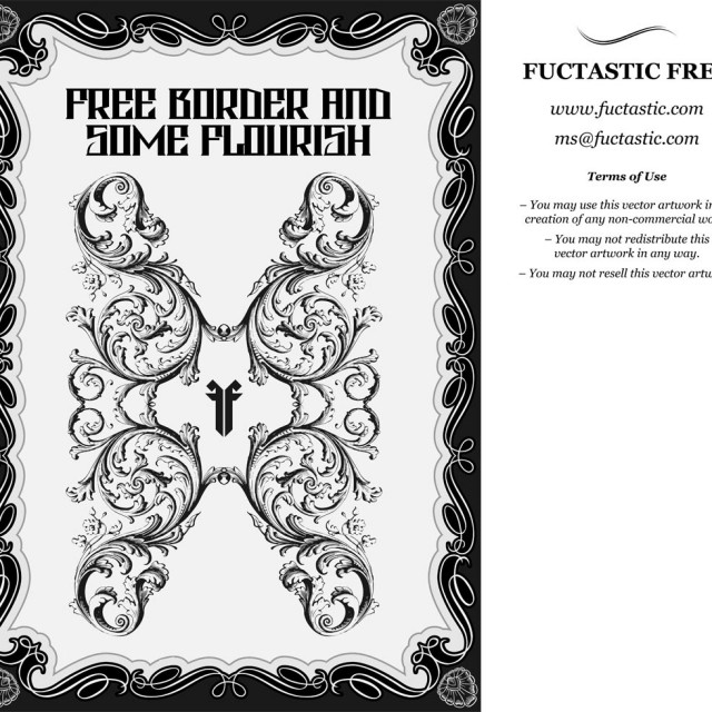 Free vector Free Borders and Vector Flourishes #9591