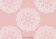 Free vector Free Crochet Lace Vector Background #7084