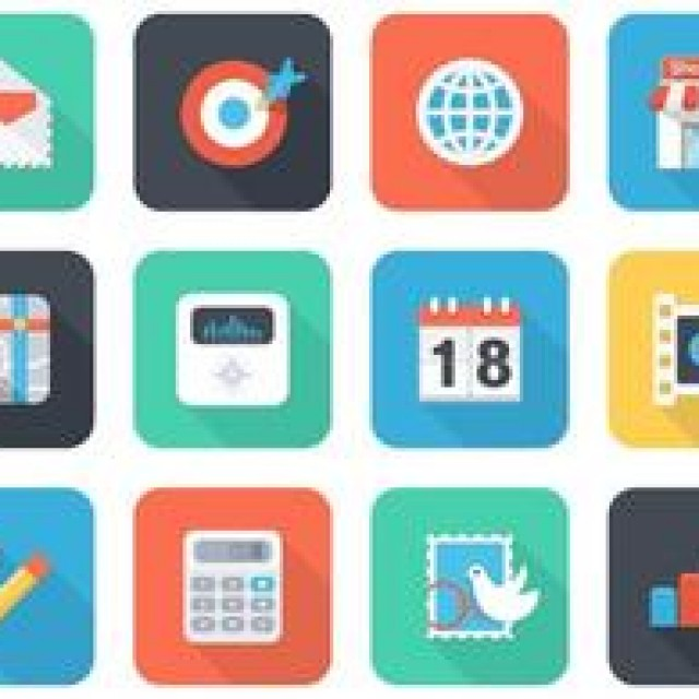 Free vector Free Flat App Vector Icons For Mobile And Web #4782