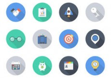 Free vector Free Flat Business Vector Icons #4739