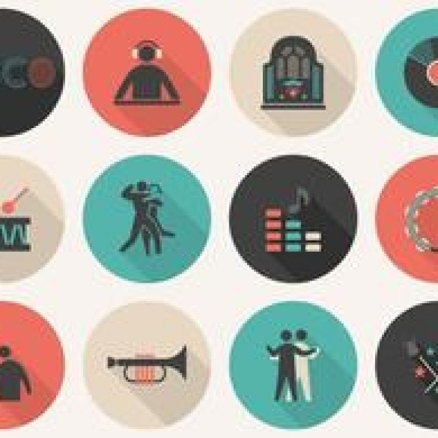Free vector Free Flat Music Vector Icon Set #4831