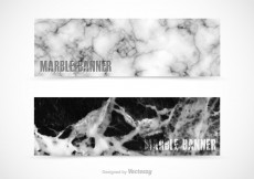 Free vector Free Marble Vector Banners #6237