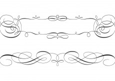 Free vector Free Swirly Scroll Frame and Border Vectors #9683