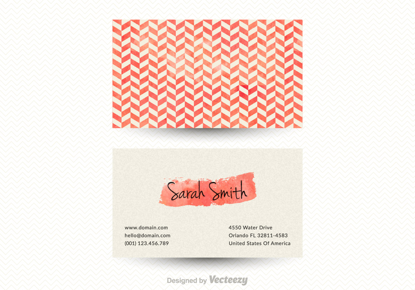 Free vector Free Vector Chevron Business Card Template #6255 | My ...