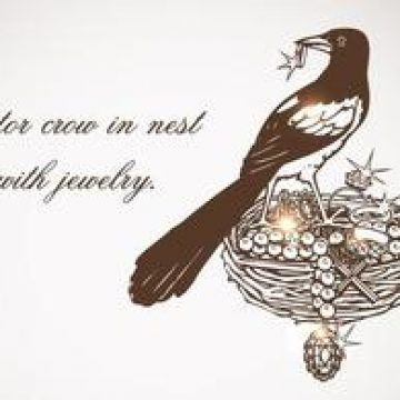 Free vector Free Vector Crow In Nest With Jewelry #4607