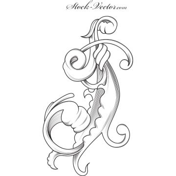Free vector Free vector engraved flower #9765