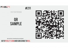 Free vector Free Vector of the Day #211: QR Sample #8461