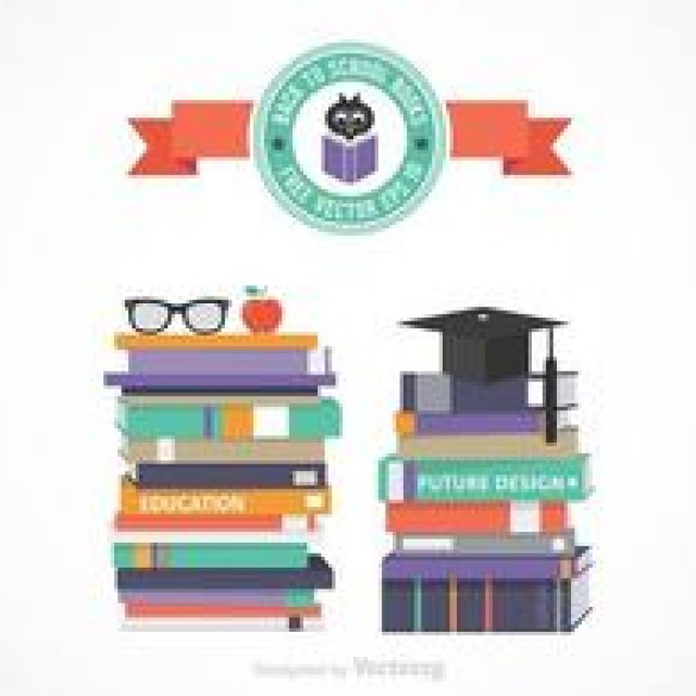 Free vector Free Vector Stack Of School Books #4498