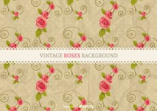 Free vector Free Vector Vintage Roses Background #6867