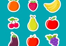 Free vector Fruits stickers #10293