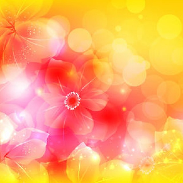 Free vector Full Blossom Bright Flower with Bokeh #5105