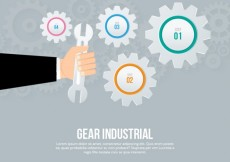 Free vector Gear industrial infographic #6975