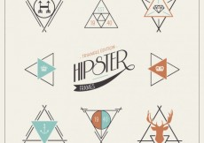 Free vector Geometric hipster logos #8522