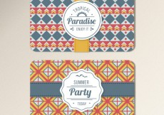 Free vector Geometric invitation card for summer party #9388