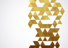 Free vector Geometrical golden background #6760