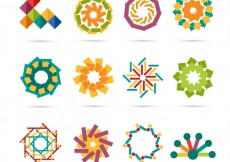 Free vector Geometrical logos in abstract style #9904